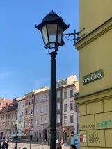 Krakow - insegne e lampioni