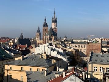 Krakow - vista sulla città vecchia dalla terrazza del Metrum Ristobistro